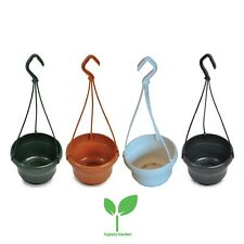 10 x Liliane 14cm Hanging Plant Pots Baskets. Available in 4 colours.