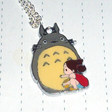 Cute Anime Totoro Enamel Charm Necklace or Earrings Kitsch Kawaii My Neighbor