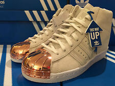 Adidas Originals Superstar W Up Metal Toe Rose Gold Wedge Trainers S79384 UK 5-7