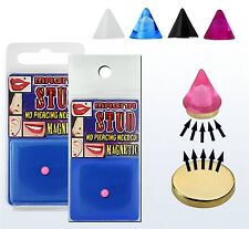 Magnetic fake illusion non piercing spike cone lip nose