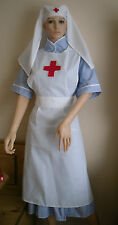 WW1 WW2  NURSE RED CROSS NURSE COSTUME APRON AND VEIL fancy dress re-enactment