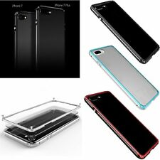 Shockproof Aluminum Metal Bumper + Clear PC Back Case Cover For iPhone 7 7 Plus