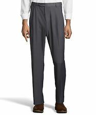 Palm Beach Executive Grey Pleat FlexFit Dress Pants Big And Tall