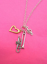 Musical Instrument Silver Plated Necklaces Orchestra, Jazz Or Rock