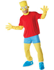 Adult Bart Simpson Fancy Dress Costume The Simpsons TV Cartoon Outfit