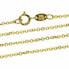 Goldkette Ankerkette Massiv Gold 750 Gelbgold 18K Damen Halskette 40 60cm 1,2mm