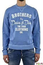 Dsquared2 DS2 Uomo Felpa Brothers Co. Celeste - tg. M/L - Made in Italy