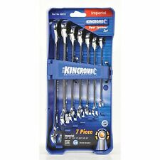 Kincrome GEARED SPANNER SET 7 Pcs Mirror Polish AUS Brand- Imperial Or Metric