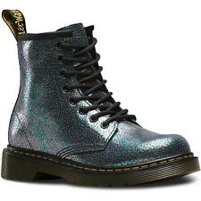 Dr Martens Delaney Junior Grey Sparkly Leather Ankle Boots