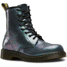 Dr Martens Delaney Youth Grey Sparkly Leather Ankle Boots