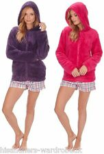 Ladies Forever Dreaming Zip Up Hooded Soft Fleece Snuggle Top In 2 Colours