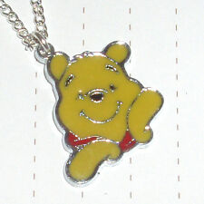 Cute Winnie the Pooh Bear enamel Charm necklace or Earrings Kitsch Kawaii