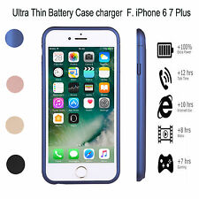 Ultra-Slim Zusatzakku Power Pack Batterie Charging Hülle Case For iPhone 6/6S/7+