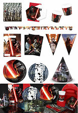 Star Wars The Force Awakens Birthday Party Tableware Cups Plates Napkin Supplies