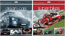 NEW 2017 DREAM CARS SUPER BIKES SQUARE WALL CALENDAR MONTHLY VIEW FAST CARS BIKE