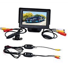 4.3 Inch TFT LCD Monitor+Car Reverse Rearview Camera Parking Wireless Kits
