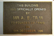TRIMS - Brass Wall Plaque - South Australian History - RM Williams,Shirts,Boots