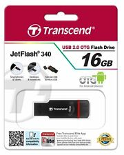 Transcend JetFlash 340 16 GB USB 2.0 OTG Pen Drive