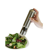 Stainless Steel Pepper Mill Grinder Muller - Automatic Battery Operated