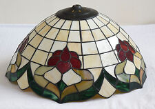 Large Vintage Arts And Crafts Tiffany Style Glass Ceiling Light Shade