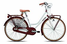 "26"" ZOLL LEGNANO VINTAGE DAMEN CITY HOLLAND RETRO BIKE FAHRRAD WEIß BORDEAUX"