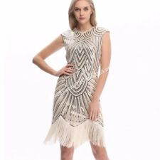 New Womens Adult 1920s Gatsby Charleston Vintage Flapper Sequin Party Maxi Dress