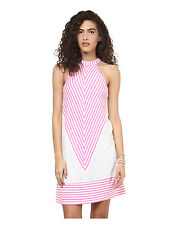 Yepme Monochrome Shift Dress - White & Pink(YPMDRES0211)