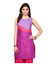 Yepme Redecca Color Block Kurti - Violet & Purple (YPMKURT1940)
