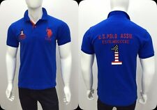 U.S.Polo Men's Solid Printed Slim fit Classic Polo T-shirt