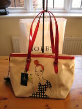 BNWT Hobbs Lily Shoulder / Tote Fun Cherry Canvas & Leather Bag