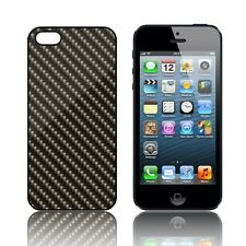 'Fibra Di Carbonio Design' Custodia Silicone per iPHONE Apple 5, 5S,SE,5C Gomma