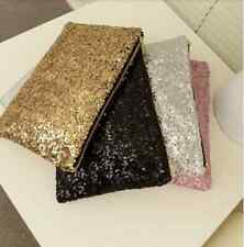 Clutch small medium Sequin black gold silver pink Style Handbag Party