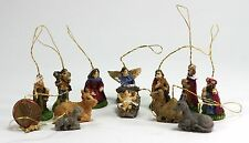 Dollhouse Miniature 12 Piece Nativity Set Ornaments