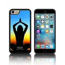 'Yoga' Custodia Silicone per Apple iPHONE 6, 6S ,7 PLUS Gomma Nera Gel TPU Cover