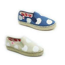 WOMENS LADIES FLAT CHUNKY WEAVE SOLE SLIP ON ESPADRILLES PUMPS SHOES SIZE 3-8
