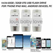 i-Flash Stick Device 64/32GB Dual USB OTG Memory Drive For Apple iPhone iPad PC