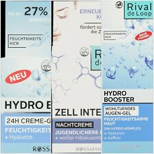 HYDRATING EYE GEL / DAY & NIGHT FACE CREAM WITH HYALURONIC ACID