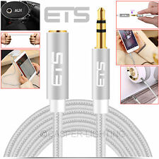 New 3.5mm AUX Male to Female ETS Plug Stereo Audio Headphone MP3 Extension Cable