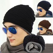 Men Slouch Skull Cap Oversize Long Beanie Women Baggy Caps Crochet Knit Ski Hats