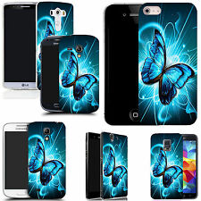 gel case cover for many mobiles -  futuristic butterfly silicone