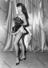 "Bettie Page Burlesque Movie Star Pin-up -set No5 of 5 Photo's 4"" x 6"" or 5"" x 7"""