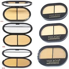 Miss Rose Professional Make UP 2 Color Face Powder PUFF PRESSED POWDER