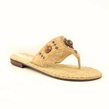 WOMENS LADIES SUMMER BEACH FLIP FLOPS FLAT SANDALS SHOES ESPADRILLES SIZE 3-8