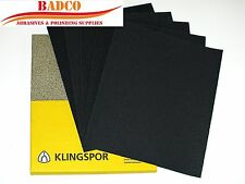 """WET and DRY Sandpaper / Sheet 9"""" x 11"""" KLINGSPOR mixed grit 60 - 2500 Paper"""