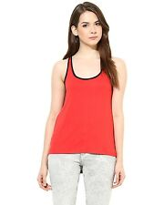 Womens Top - Red Hosiery - Casual Top - By Harpa