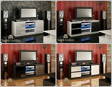 NEW! Superb TV Stand Unit Cabinet 120cm + Door + Drawers + Gloss + LED