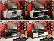 NEW! Superb TV Stand Unit Cabinet 120cm + 2 Doors + Gloss + LED