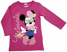 Neu! Disney Minnie Mouse Langarmshirt Long-Shirt Longsleeve pink  98 104 116 128
