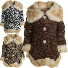 Kinder Mädchen Pelz Fell Jacke Mantel Stepp Kids Sweat Winter Jacke Blazer 20459
