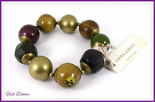 GORGEOUS EARTH TONE CHUNKY BEAD BRACELET BY LAURA ASHLEY. TICKET PRICE £8!!!